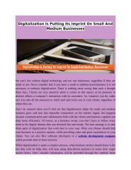 Digitalization Is Putting Its Imprint On Small And Medium Businesses.docx