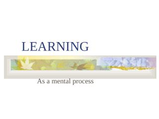 Basic Principles of Learning.ppt