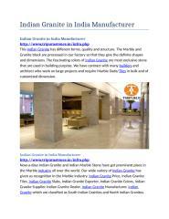 Indian Granite in India Manufacturer.docx