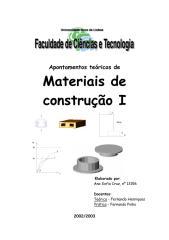 engenharia civil - construção - apontamentos teóricos de materiais de construção i.pdf