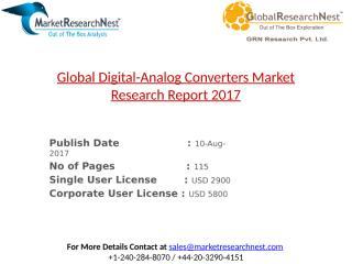 Global Digital-Analog Converters Market Research Report 2017.pptx