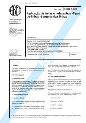 ABNT - NBR 8403 - Aplicação de linhas em desenhos - Tipos de linhas - Larguras das linha.pdf
