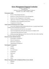 Stress Management Program Evaluation.doc