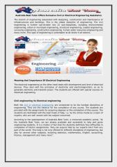 Australia Best Tutor Offers Exclusive Civil or Electrical Engineering Assistance.pdf