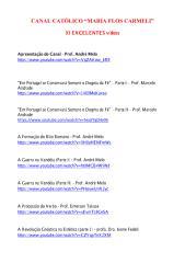 93 Excelentes Vídeos Católicos - Canal 'Maria Flos Carmeli'.pdf