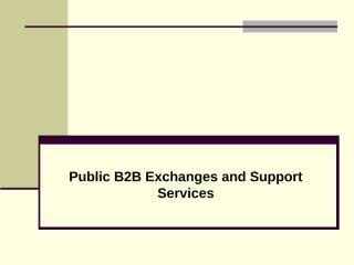 Public B2B Exchanges.ppt